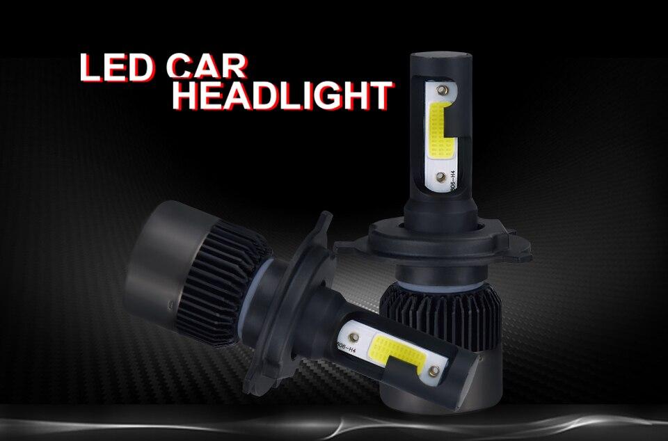 MeeToo H7 Led Car Headlight H4 LED H1 H11 HB4 HB3 9005 9006 72W 8000LM Bright Car Headlights Fog Light 12V Auto Headlamp 6500K  (1)