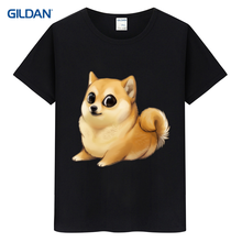 Street Husky Doge Dog Black 2017 Funny T-Shirt Uk Summer Custom Printed T Shirt Cotton Simple Tee Shirt Custom Printing Jersey(China)
