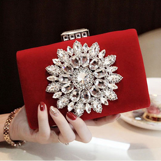 2016 New Single Side Sun Diamond Crystal Evening Bags Clutch Bag Hot Styling Day Clutches Lady Wedding woman bag Free Shipping<br><br>Aliexpress