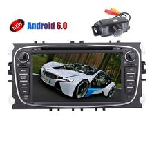 Backup Camera!!7'' Android 6.0 GPS Car Stereo 2din Car dvd Player For Ford Focus Mondeo with GPS Navigation CANBUS FM Radio Wifi