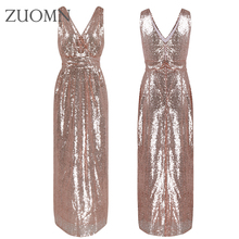 Women Important Occasion Dresses Sequins Party Dresses For Bridesmaids Bridal Sequined Party Gowns Dresses Women Clothing Y125(China)