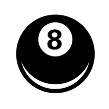 10*10CM 8 Ball Magic 8 Ball Fun Decorative Decals Car Stickers Car Styling Black/Silver C1-0033(China)