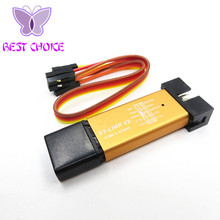 Free shipping 10PCS ST-Link V2 automatic upgrade Perfect support STM8 STM32 downloader programmer simulator