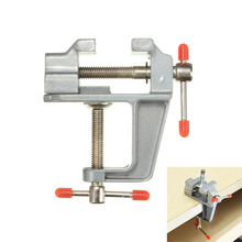 New Arrival 35mm Aluminum MiniAture Small Jewelers Hobby Clamp On Table Bench Vise Tool Vice(China)