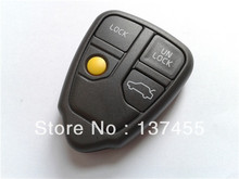 Car remote control key case replacement entry key cover shell on chip inside for volvo free shipping(China)