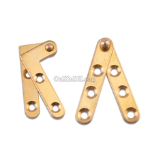 High Quality 10PCS Pure Brass Invisible Door Pivot Hinges 360 Degree Rotating Inset Hidden Door Hinges Install up and down(China)