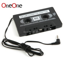 OneOne New FOR MP3 CD MD DVD For Clear Sound Music Car Cassette Tape Adapter Free DHL FEDEX Shipping wholesale 1000pcs/lot