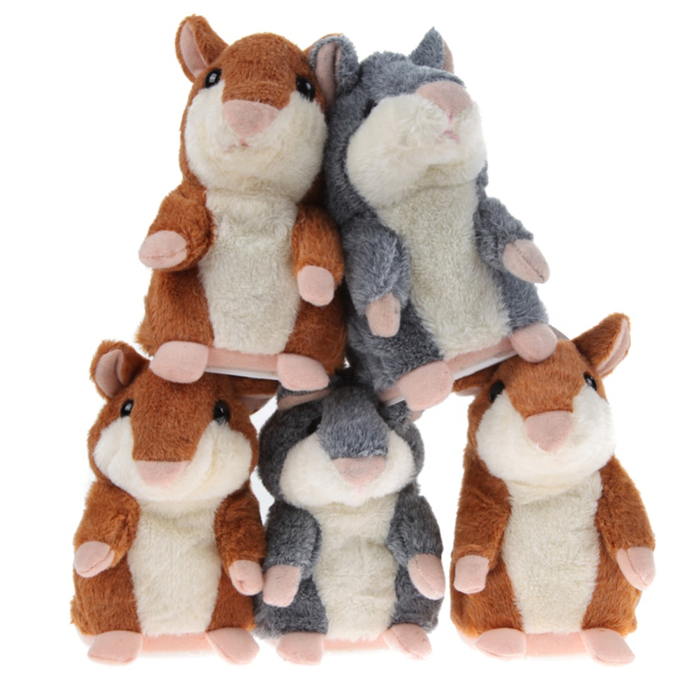 2 Colors Kawaii Talking Hamster Plush Toys Sound Record Plush Hamster Stuffed Toy for Children Kids High Quality(China (Mainland))