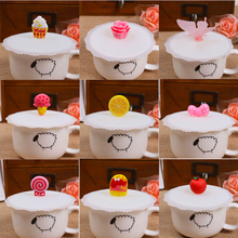 Anti-dust Silicone Cup Cover Suction Seal Lid Cap Silicone Airtight Love Novelty Hot