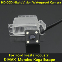 For Ford Fiesta Focus 2 S-MAX S Max Mondeo Kuga Escape 2013 Car CCD Night Vision Backup Rear View Camera Waterproof Parking