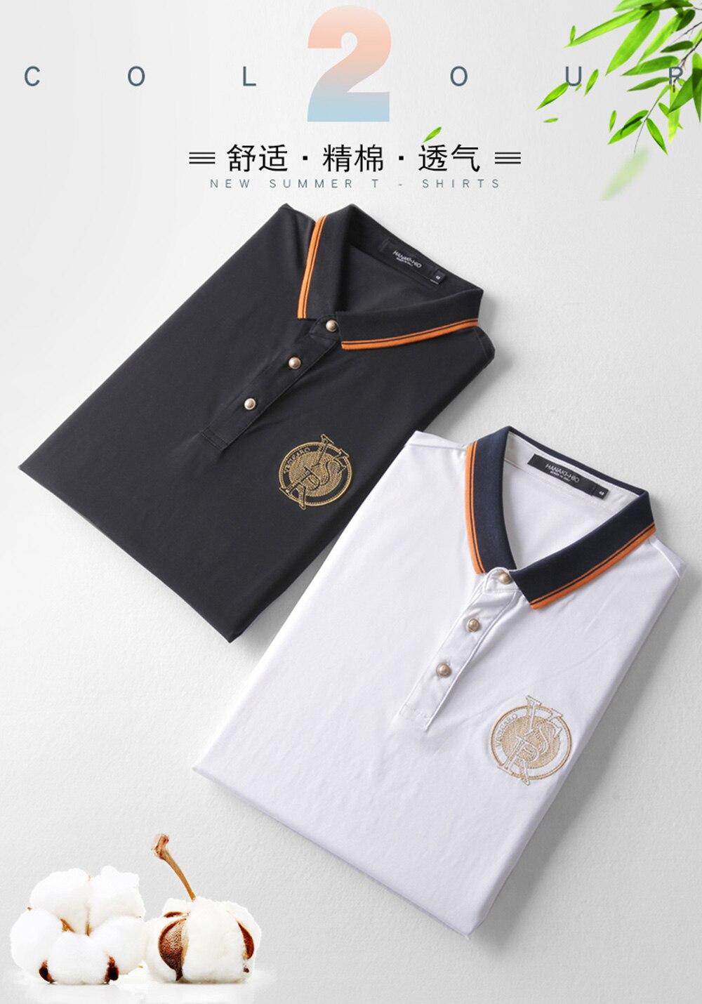 2018 New Arrival Brand Men\'s Summer Business Shirt Short Sleeves Turn-down Collar Polo Shirt Smart Casual pol Shirt Men Shirts (6)