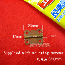20*17MM  Copper plating ingots small gift box hinges  lace small wooden crafts hinge Provided screws Wholesale
