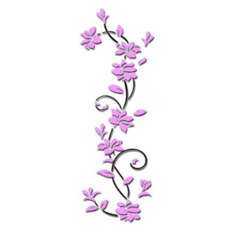 HTB1n3ycdbYI8KJjy0Faq6zAiVXaa - Hoomall Acrylic Flower Wall Stickers Poster New Year Decorations Removable Stickers for Kitchen DIY Wall Stickers for Kids Rooms