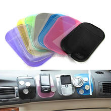 2Pcs/Lot Dining Table Tableware Magic Clear Black Sticky Anti Slip Mat Cell Phone Mat Holder