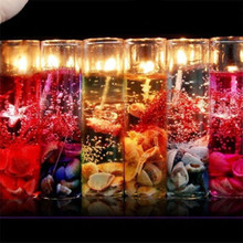 Buy 1 PCS Romantic Glass Bottles Ocean Smokeless Jelly Wax Wedding Gel Candles Showy Fashion Luxury Party Holiday DIY Decoration for $1.63 in AliExpress store