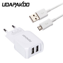 Buy micro usb cable & 2 port USB Adapter fast Charger samsung Galaxy xiaomi redmi 3/3s/pro note 3 4 meizu lg nokia sony x power for $4.79 in AliExpress store