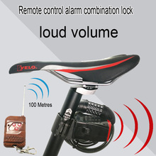 Bicycle Security Vibration Lock with Sensor Bike Alarm lock System Remote Control For Bicycle Newest wireless lock(China)