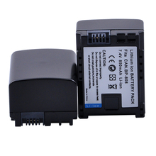 2x 7.4V 850mAH BP-808 BP 808 BP808 Li-ion Battery For Cannon BP-808 BP808 BP-809 BP819 BP827 FS300 FS100 XA10 VIXIA HG20 Battery(China)