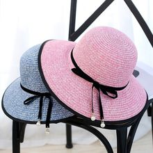 2017 new summer 1PCS Children's Girl Kids Sun Hat Summer Lovely Fashion Straw Hat Beach Cap for 5-11 Year Toddlers Infants(China)