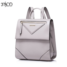 Women Leather Backpack Female Leisure Daily Student Double Shoulder Bags Ladies Daypack Schoolbags Top-handle Travel Rucksack