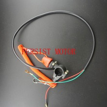 Motorcycle ATV Quad Racing Engine Stop Tether Closed Kill Switch Push Button Dirt Pit Bike MX Motocross Free shipping