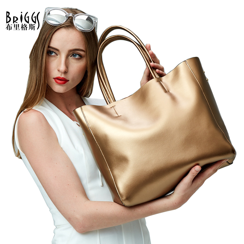 BRIGGS Brand Fashion Genuine Leather Women Bags Women Messenger Bags Solid Handbags Famous Designer Casual Ladies Shoulder Bags<br><br>Aliexpress