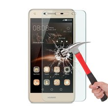"9H 0.26mm Tempered Glass Front Screen Film Protector Case For Huawei Honor 5A LYO-L21 5.0"" For Huawei Y5 II 2 Y5II CUN-U29 Cover(China)"