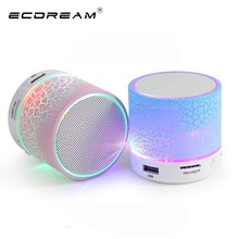 LED A9 Portable Mini Bluetooth Speakers Wireless Computer Speaker With USB TF Mic Bluetooth Music For home Mobile Phone iPhone