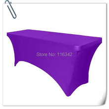 Big Discount !!!!  10pcs  Spandex 6ft.   Rectangular Table Cover - 30'heght(180*60*75cm)  Free Shipping