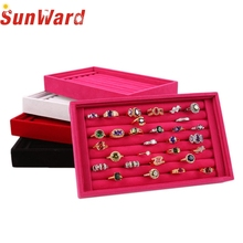 Best seller Diomedes Factory Price Full Velvet Ring or Jewelry Box or Earrings Ring Box or Tray Box 2017 Oct20(China)