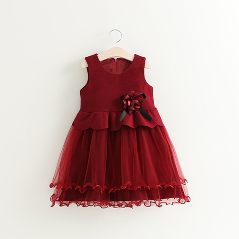2-6Y Summer Girl Dress Children Wedding Party Dress Cute O neck Clothes Fashion Kids Lace Dresses Birthday Princess Dress<br>
