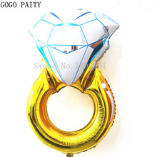 GOGO PAITY Free Shipping 1pcs 30-inch oversized foil balloons, self-sealing ring arranged balloon wholesale valentine wedding(China)