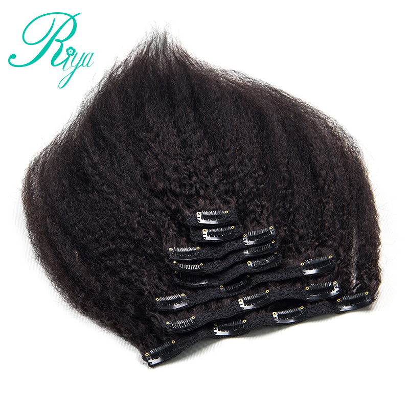 kinky straight clip in human hair extension (13)