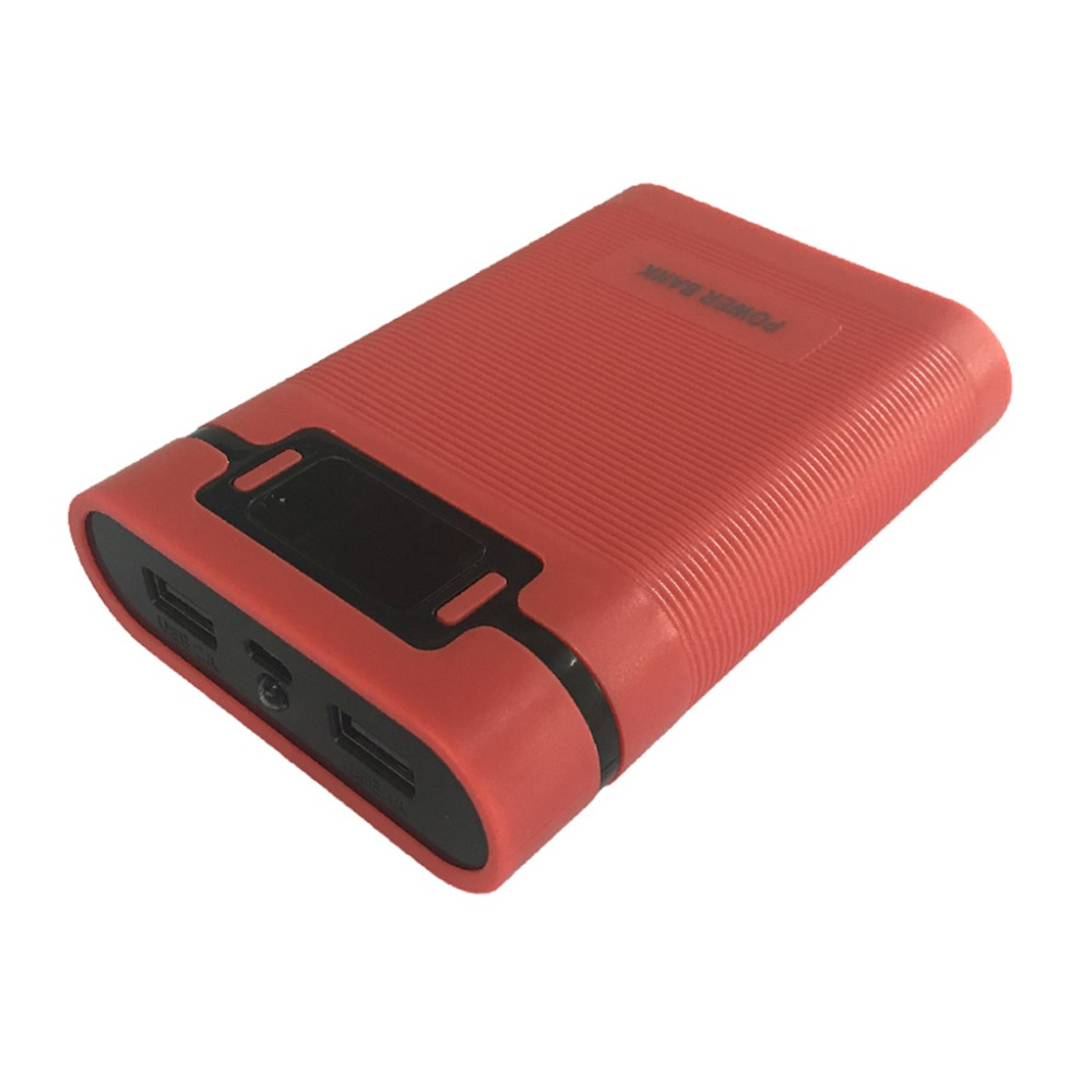 Anti-reverse Portable Power Bank Box 4x 18650 (Without Battery) DIY Display Battery Charger 5V 2A Powerbank Case For iPhone Huaw 2