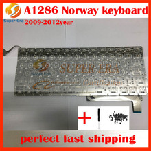 A1286 Norway Norwegian keyboard for macbook pro 15.4'' A1286 Norway keyboard layout laptop spare part replacement 2009-2012year