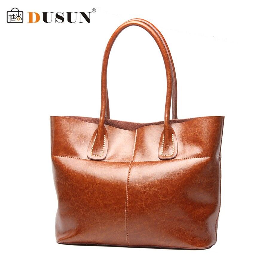 DUSUN Women Bag Fashion Brands Luxury Women Genuine Leather Handbag Women 2016 New Casual Bags High Capacity Handbags<br><br>Aliexpress