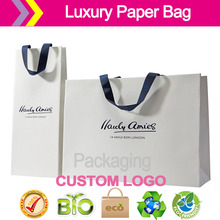 100% OEM Manufacturer silk ribbon handle small medium big sizes set of paper bags for Sales promotion Shopping Bags(China)