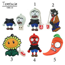 USB Flash Drive PenDrive USB 64GB 32G16g8g4g Flash Drive Classic Games Plants Vs. Zombies USB Stick USB Drive Pen Drive(China)