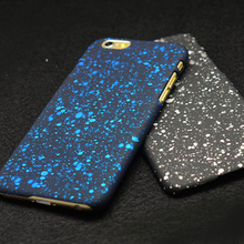 Hard Back Case For iPhone 6S 4S 5S SE 7 7 Plus Three-dimensional Stars Ultra Thin Frosted Starry Sky Case For iPhone 7 Case 3D