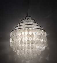 Sea rock shells pendant light lamps 50CM Shell restaurant bedroom lamps and lanterns of creative study(China)