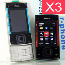 Refurbished Original Nokia X3 Mobile Cell Phone Unlocked X3 Slider Cellphone & One year warranty(China)