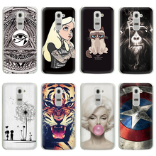 Hot Selling!! 10 Styles Colored Painting Hard Plastic Case For LG G2 Cell phone Case Cover For LG G2 Mobile Phone Bags & Cases(China)