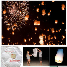 Cylinder shape 8pcs/lot lightweight fly sky lantern for halloween holiday party decorations free shipping