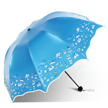 Paradise New Beach Umbrella Rain Woman for Sun Shade Creative Wedding Ladies Lace Umbrella High Quality Three Folding Umbrella(China)