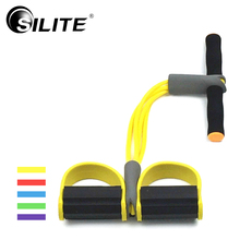 Buy SILITE Resistance Bands Waist Exercise Foam 4 Pull Rope Latex Yoga Crossfit Fitness Equipment Leg Expander Training Workout Gym for $9.17 in AliExpress store