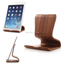 Walnut/Birch Universal Wooden Mount Holder Stand For iPad 2/3/4 iPad Mini Air Tablet Sumsung