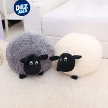 Fat Sheep ball hand Warmer Pillow black and white plush toy doll Alpaca gift nap pillow soft toys