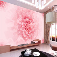beibehang 3d mural decor photo backdrop  large mural pink flowers Restaurant living room hotel wall painting murals wallpaper