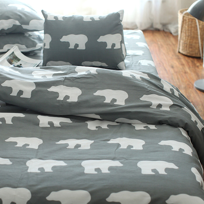 100 Cotton Twill Reactive Printing Duvet Cover Set Without Comfortable Polar Bear 4pcs 3pcs Bedding Sets High Quality King Size
