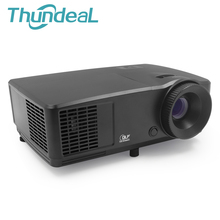 ThundeaL RD809 HD DLP Projector 3D Beamer 3000 Lumen 1024*768 Home Cinema Theatre Meeting Business Mercury Lamp with HDMI VGA